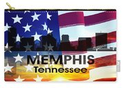 Memphis Tn Patriotic Large Cityscape Carry-all Pouch