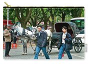 Men And Carriages In A Street Near Saint Sophia's In Istanbul-turkey Carry-all Pouch