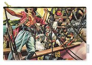 Men Of The Jolly Roger Carry-all Pouch by Ron Embleton