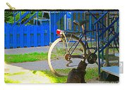 Meow Cat In Verdun Waiting By The Step Beautiful Summer Montreal Pet Lovers City Scene C Spandau Carry-all Pouch