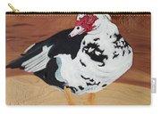 Merganser Duck Painted On Cedar Carry-all Pouch