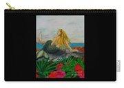 Mermaid Sailboat Flowers Cathy Peek Fantasy Art Carry-all Pouch