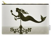 Mermaid Weathervane In Sepia Carry-all Pouch by Ben and Raisa Gertsberg