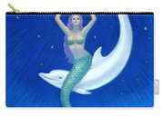 Mermaids- Dolphin Moon Mermaid Carry-all Pouch