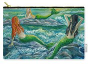 Mermaids On The Rocks Carry-all Pouch