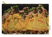 Merrie Monarch Hula Dancers In Yellow Dresses Carry-all Pouch