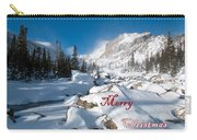 Merry Christmas Snowy Mountain Scene Carry-all Pouch