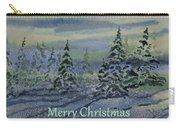Merry Christmas - Snowy Winter Evening Carry-all Pouch