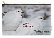 Merry Christmas - Winter Ptarmigan Carry-all Pouch