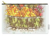 Merry Christmas And A Happy New Year - Fruit And Flowers In The Snow - Holiday And Christmas Card Carry-all Pouch