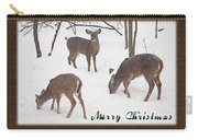 Merry Christmas Card - Whitetail Deer In Snow Carry-all Pouch