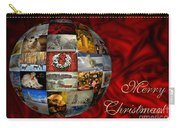 Merry Christmas Globe Carry-all Pouch