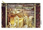 Merry Christmas Gold Carry-all Pouch by Mo T