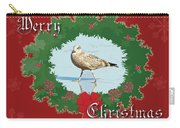 Merry Christmas Greeting Card - Young Seagull Carry-all Pouch