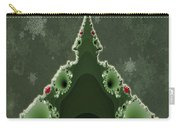 Merry Christmas Greeting - Tree And Star Fractal Carry-all Pouch