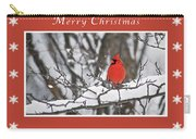 Merry Christmas Male Cardinal Carry-all Pouch