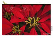 Merry Christmas - Poinsettia  - Euphorbia Pulcherrima Carry-all Pouch