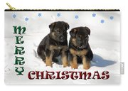 Merry Christmas Puppies Carry-all Pouch