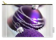 Merry Christmas Purple Baubles Carry-all Pouch