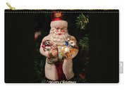 Merry Christmas Santa And Animals Carry-all Pouch