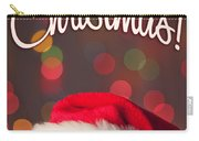 Merry Christmas Santa Card Carry-all Pouch