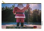 Merry Christmas Santa Claus Greeting Card Carry-all Pouch