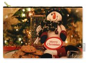 Merry Christmas Snowman Carry-all Pouch