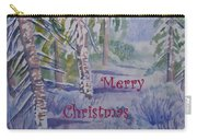 Merry Christmas - Snowy Winter Path Carry-all Pouch