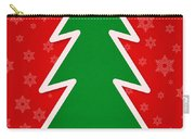 Merry Christmas Tree With Snowflake Background  Carry-all Pouch
