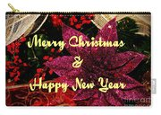 Merry Christmas With Purple Poinsettia Carry-all Pouch