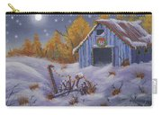 Merry Christmas You Old Barn And Farm Implement Carry-all Pouch
