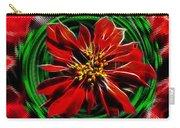 Merry Xtmas - Poinsettia Carry-all Pouch