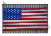 Metal American Flag Carry-all Pouch