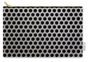 Metal Grill Dot Pattern Carry-all Pouch by Simon Bratt Photography LRPS