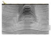 Metal Strips In Balck And White Carry-all Pouch