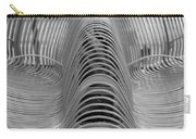 Metal Strips In Black And White Carry-all Pouch