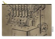 Metal Working Machine Patent Carry-all Pouch