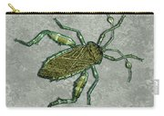 Metallic Green And Gold Prehistoric Insect  Carry-all Pouch