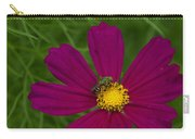 Metallic Green Bee On Cosmos Carry-all Pouch