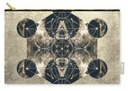 Metatron's Cube Silver Carry-all Pouch by Filippo B