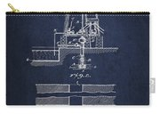 Method Of Drilling Wells Patent From 1906 - Navy Blue Carry-all Pouch