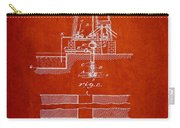 Method Of Drilling Wells Patent From 1906 - Red Carry-all Pouch