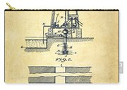 Method Of Drilling Wells Patent From 1906 - Vintage Carry-all Pouch