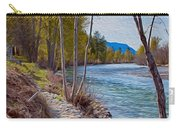Methow River Coming From Mazama Carry-all Pouch by Omaste Witkowski