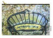Metro Abbesses Carry-all Pouch