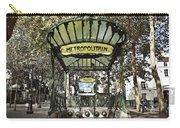 Metropolitain Entrance Paris Carry-all Pouch