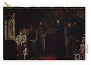 Metropolitan Philip Of Moscow 1507-90 With Tsar Ivan The Terrible 1530-84 Oil On Canvas Carry-all Pouch