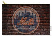 Mets Baseball Graffiti On Brick  Carry-all Pouch by Movie Poster Prints