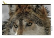 Mexican Grey Wolf Upclose Carry-all Pouch