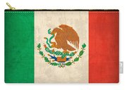 Mexico Flag Vintage Distressed Finish Carry-all Pouch